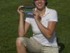 24/05/2009 Ladies European Tour 2009, HypoVereinbank Ladies German Open, 21-25 May, Golfpark Gut Hausern, Bayern Germany. Jade Schaeffer of France with her trophy . Credit: Tristan Jones