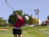 01/07/2007 Ladies European Tour 2007, Ladies Open de Portugal / Gramacho Golf Course, Algarve, Portugal/ 29 June - 01 July 2007 / Jade Schaeffer of France plays her approach shot to the 18th green during the third and final round. Credit: Tristan Jones/LET
