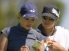 Fany Schaeffer and her sister, and caddie for the weekend, Jade check the yardage on the par 3 12th hole  during the third  round of the Ladies Spanish Open, Club De Campo Mediterraneo, Castellon, Spain 9 - 13 May 2007 CREDIT: Tristan Jones / LET